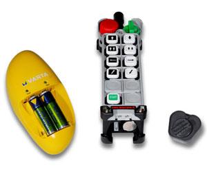 Batterie ricaricabili radiocomandi Telecrane con caricabatterie incluso