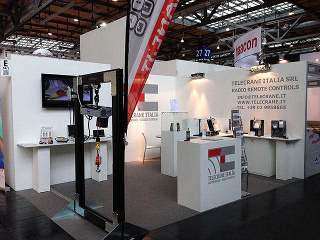 Lo stand Telecrane Italia al Cemat di Hannover, Maggio 2014