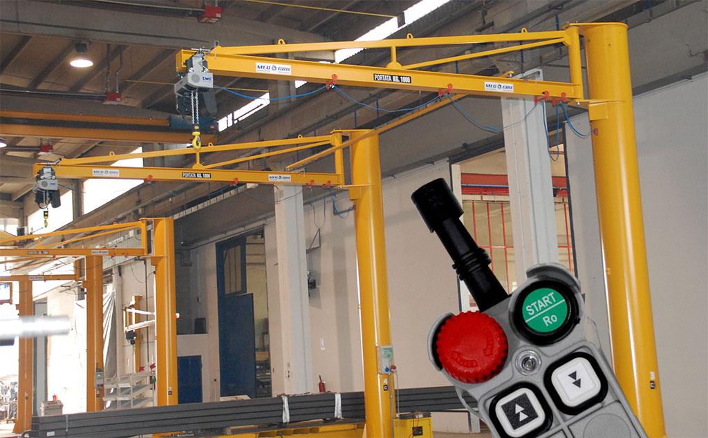 jib crane radio remote control
